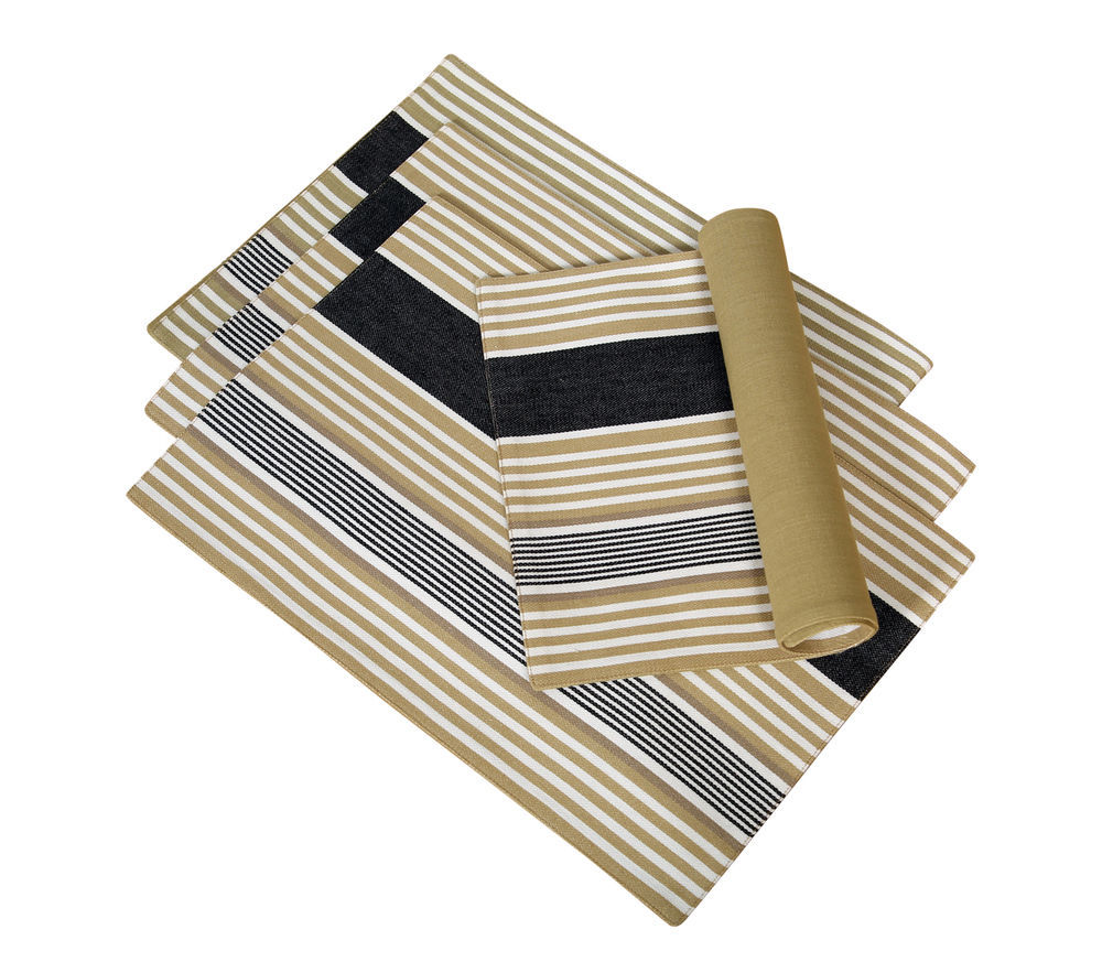 Cotton Placemats Granite Stripes 4/pack - $15.79