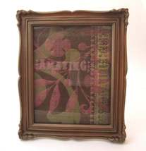 Vintage 10x12 plastic resin gold picture frame for 8x10 Photos - $22.00