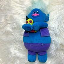 Hasbro Trolls B9381 Biggie and Pet Worm Dr Dinkles Blue Hair Hug N Plush... - $13.09