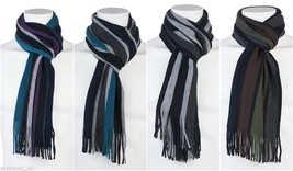 Mens Giovanni Cassini Luxury warm knitted winter Stripes Scarf scarves 6... - $9.30