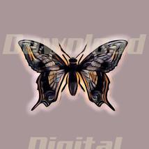 Digital download butterfly flower beautiful nature Wallpaper Painting Wa... - $5.00