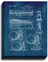 Universal Golf Club Head Patent Print Midnight Blue on Canvas - $39.95+