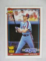 Larry Walker Montreal Expos 1991 Topps Baseball Card 339 - $0.98
