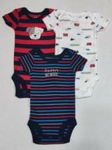 Carter's 3 Pack Preemie Bodysuits for Boys Daddy's Newbie Premature Reborn Doll - $10.95