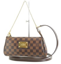 Authentic LOUIS VUITTON Eva Damier Ebene Chain Clutch Shoulder Hand Bag ... - $1,053.35 CAD