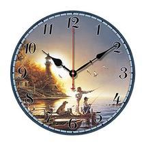 "George Jimmy 10"" Retro Unique Lighthouse Wall Clock Decor Silence Hangin... - $40.99"