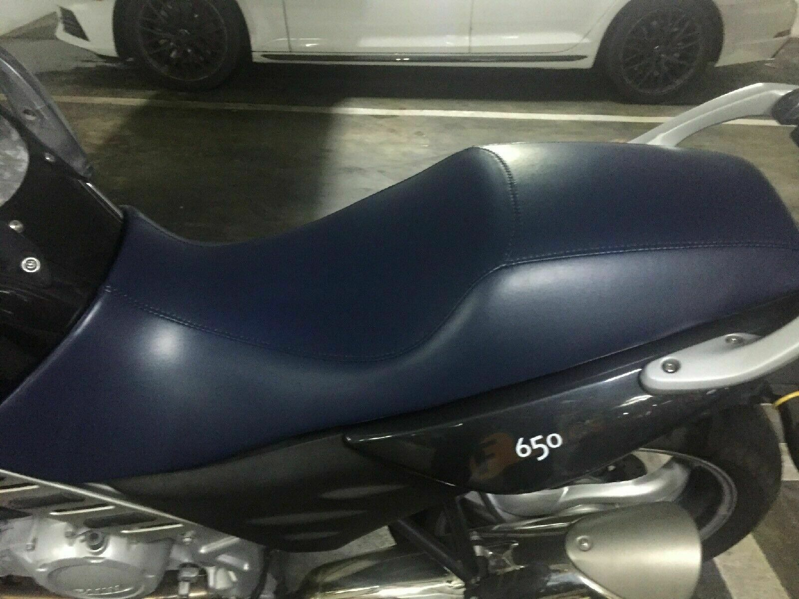 "Primary image for BMW F650 CS Seat Cover ""Scarver"" 2001 - 2005   in MIDNIGHT BLUE or 25 colors"