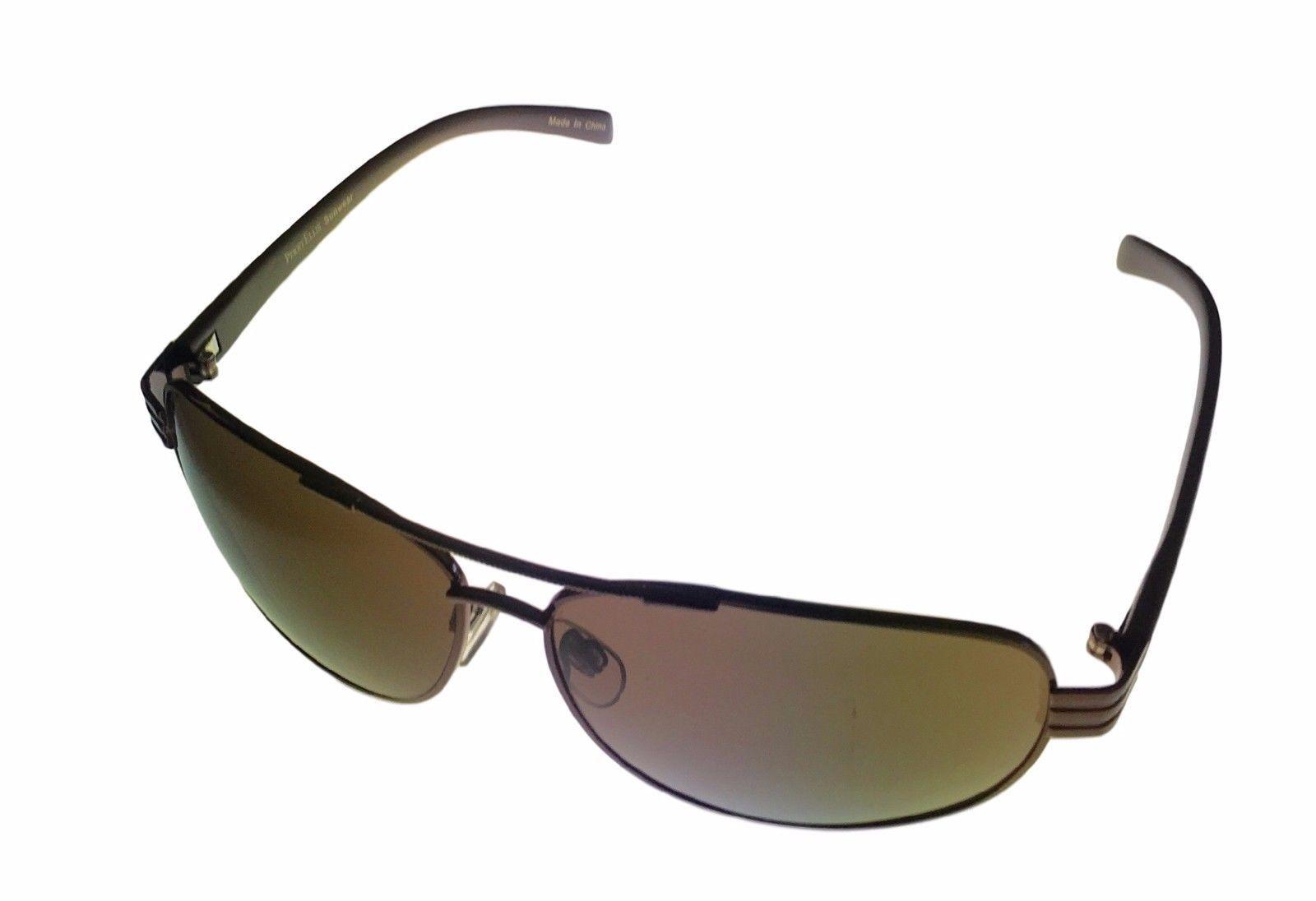 42e06210459287 Perry Ellis Mens Brown Metal Aviator Sunglass  Solid Brown Lens PE21 - 2 -   17.99