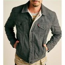 Levi's Wellthread Outerknown Sherpa Trucker Blue Jean Jacket Men's NWT L - $89.99