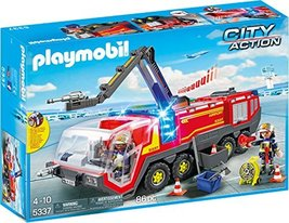 PLAYMOBIL Airport Fire Engine with Lights and Sound Building Set - $84.00