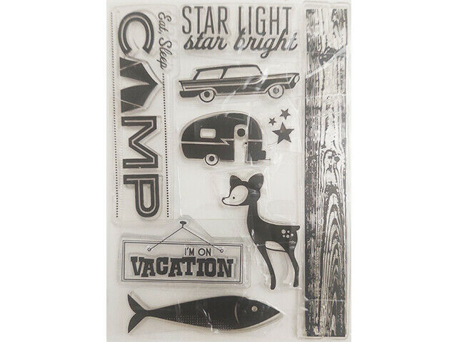 Camping Clear Stamp Set