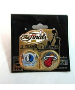 2006 NBA Miami Heat vs Dallas Mavericks The Finals Dueling Pin by Peter ... - $7.99