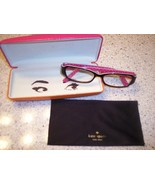 Kate Spade Reader Glasses with Case Brown Pink Polka Dots - $39.00
