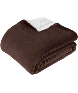 Westinghouse Oversized Throw Blanket Plush Sherpa Flannel Reversible Bro... - $32.66