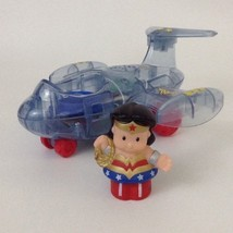 Little People Wonder Woman Invisible Jet Talking Sound Fisher Price Supe... - $38.56