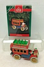 1992 Here Comes Santa #14 Hallmark Christmas Tree Ornament MIB w Price Tag - $12.38