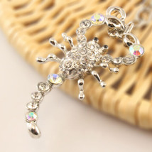 Scorpion Keychain Rhinestone Crystal Charm Animal Insects Reptile Key #M... - $18.17
