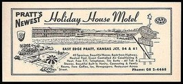 Holiday House Motel Ad Pratt Kansas AC Heated Pool TV 1964 Roadside Ad T... - $10.99