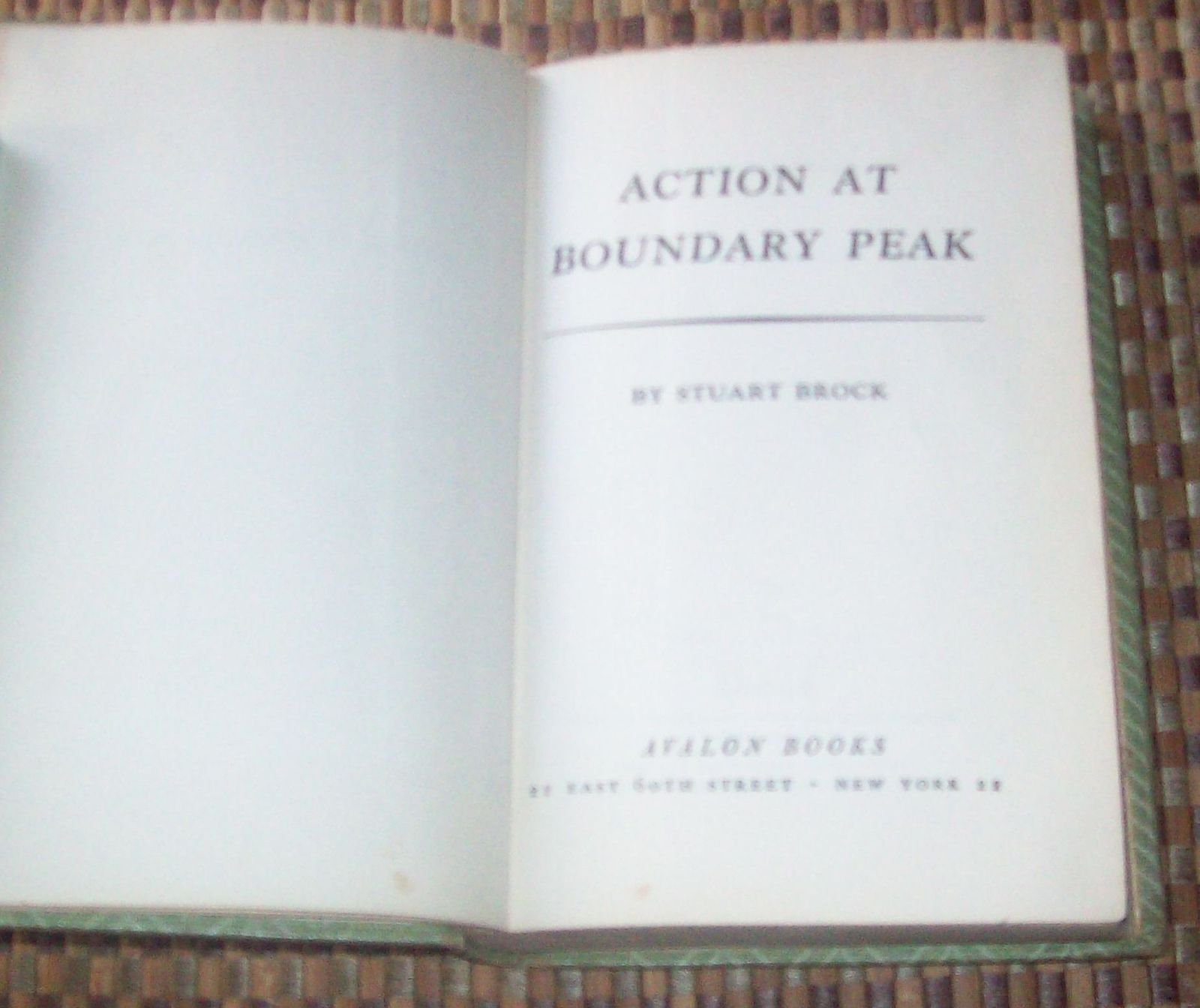 Action at Boundary Peak by Stuart Brock 1955 HB Fort Kootenai Western