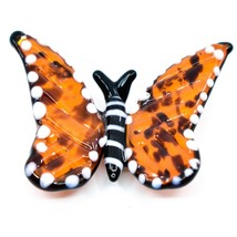 Dynasty Gallery Handmade Art Glass Monarch Butterfly Magnet image 1