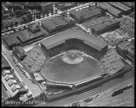 1933 MLB Aerial View Braves Field Home of Boston Braves 8 X 10 Photo Free Ship - $8.99
