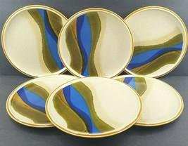 "6 Mikasa Stylekraft Blue River Dinner Plates Set Vintage 10 3/4"" Stonewa... - $128.67"