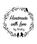 custom name bird nets handmade with love by personalized self inking rou... - $7.91