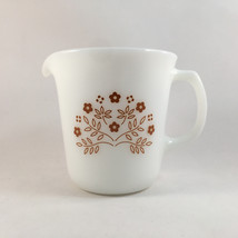 Corning Summer Impressions Ginger Creamer USA Milk Glass - $14.99