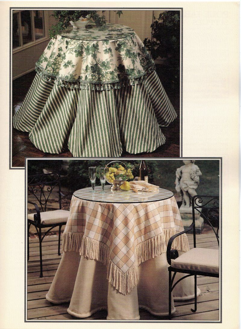 Table Skirts & Toppers Sew-No-More Decor Book 1 Leisure Arts Leaflet #1566