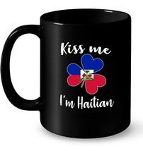 Kiss me Im Haitian Ceramic Mug Shamrock - $13.99+