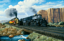 """Puzzle - Union Pacific """"Beauty & The Beast"""" Big Boy / Challenger - 1000 Piece - $30.00"""