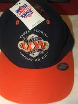 Game Day Snapback Hat Vintage 2001 Super Bowl Xxxv Ravens New Deadstock - $12.82
