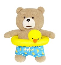 Ezen Creation Duck Tube Teddy Bear Stuffed Animal Plush Toy 30cm 11.8 inches