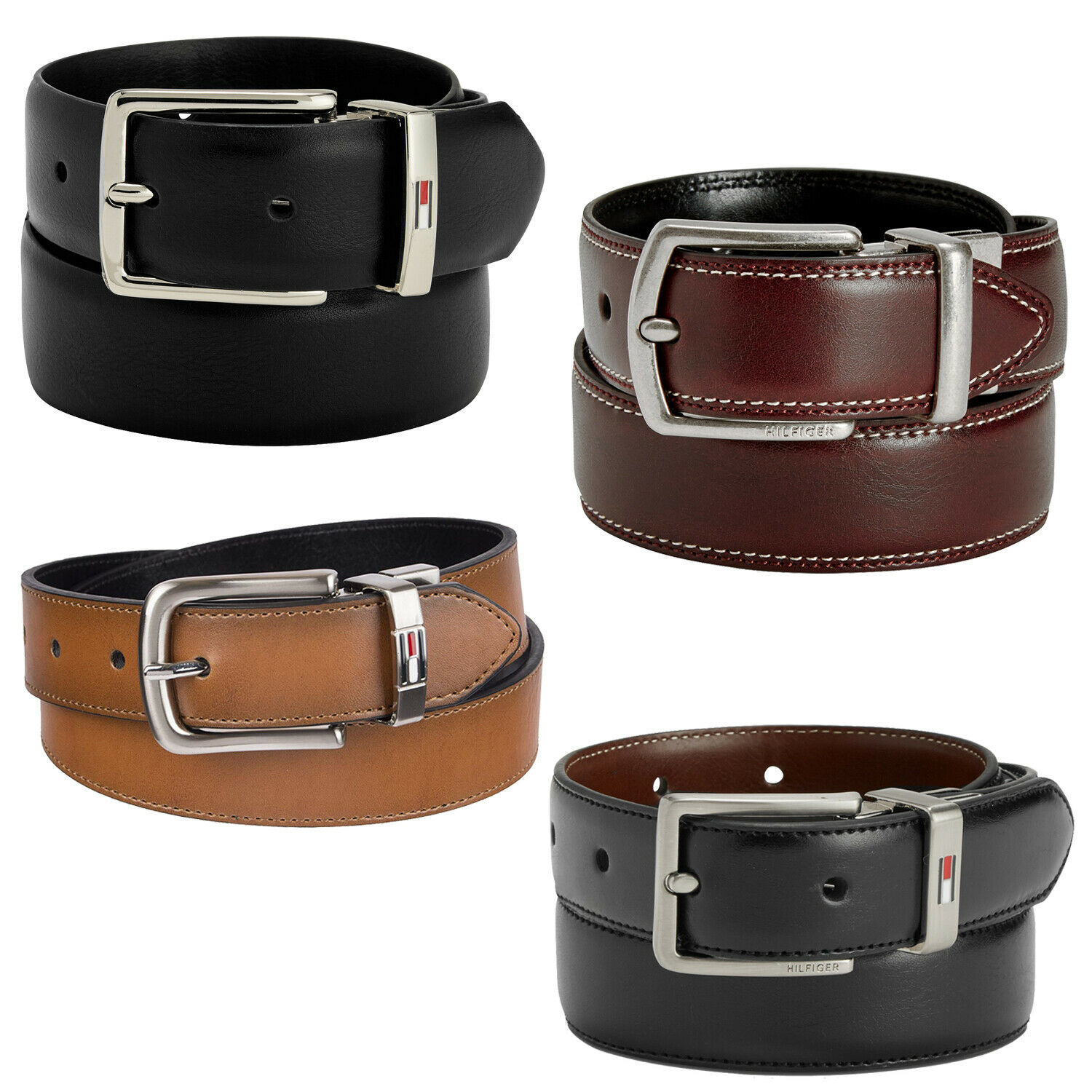 Tommy Hilfiger Premium Boys Kids Junior Reversible Leather Belt