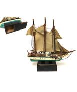 Vintage Sailing Boat Model With Hidden Stash Box Home Decor - £70.86 GBP