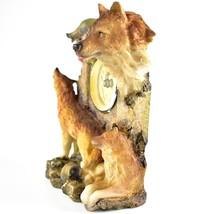 Rustic Nature Gray Grey Wolf Family Pack Mantle Desk Shelf Quartz Clock image 2