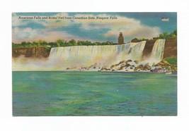 1952 Colourpicture linen Niagara Falls color postcard - $5.00