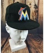 Miami Marlins New Era 59fifty On Field Hat Size 7 1/4 Florida Marlins Au... - $18.78