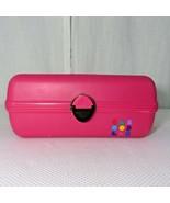 Vintage Caboodles Make Up Travel Case Craft Organizer Hot Pink Trays Mod... - $59.35