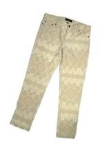 LRL Lauren Jeans Co. Ralph Lauren women's Corduroy cream Aztec Pants siz... - $57.18