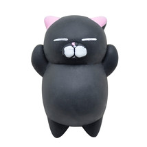 Black Mini Cute Mochi Squishy Cat Squeeze Healing Fun Kids Kawaii Toy St... - $5.54