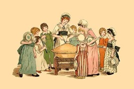 Cutting and Sharing by Kate Greenaway - Art Print - $19.99+