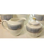 Grace's Teaware Porcelain Cream & Sugar Set Tea Serving White Blue Gold ... - $18.55