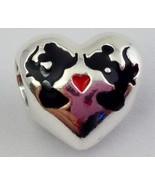Authentic Pandora Disney Minnie & Mickey Kiss Charm, 925 Silver 791443EN... - $49.87