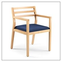 Steelcase Sawyer Wood Guest Chair by Steelcase, Fabric = Navy; Finish = Clear Ma - $403.00