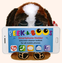 "TY Pups Smart Phone Holder Peek-A-Boos 2015 4.75"" tall Phone Accessory P... - $9.89"