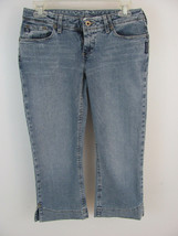 Silver Jeans Women's Size 29 (27 x 23 Actual) Brazil Capris Low Rise Lig... - $12.99