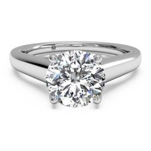 1.50CT Hearts & Arrows Moissanite Solitaire Engagement Ring 14K White Gold 7.5MM - €871,79 EUR+