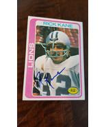 1978 Topps Unterzeichnet Rookie Card Rick Kane Detroit Lions Washington ... - $24.95