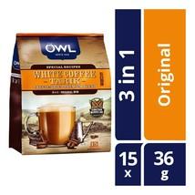 Owl 3-In-1 Original Premium Blend Instant White Coffee 15 Sachets x 36g ... - $53.45